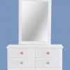 Aubrey 6 Drawer Dresser Cabinet With Mirror Frame