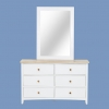 Caspian 6 Drawer Dresser Cabinet With Mirror Frame