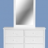 Lewis 6 Drawer Dresser Cabinet With Mirror Frame