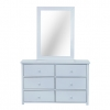 Lexington 6 Drawer Dresser Cabinet With Mirror Frame