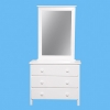 Liriana 3 Drawer Dresser Cabinet With Mirror Frame