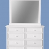Orpheus 8 Drawer Dresser Cabinet With Mirror Frame