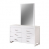 Polonius 6 Drawer Dresser Cabinet With Mirror Frame
