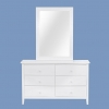 Shelton 6 Drawer Dresser Cabinet With Mirror Frame